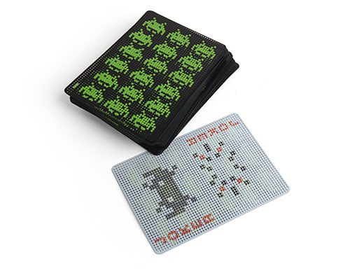Space Invaders Playing Cards - We know cards are low-tech but hey, still awesome for travel.