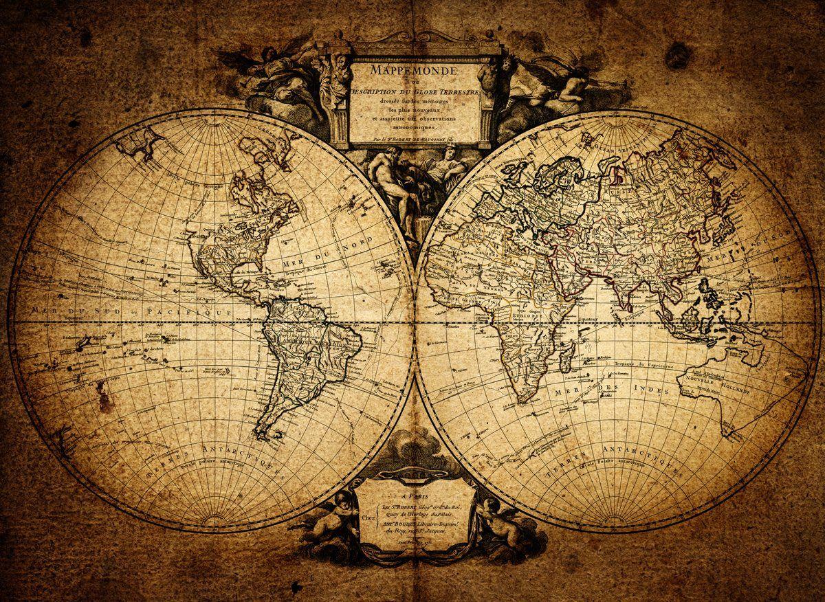 1752-vintage-world-map-wallpaper-wall-mural.jpg (1200×876) | Various ...