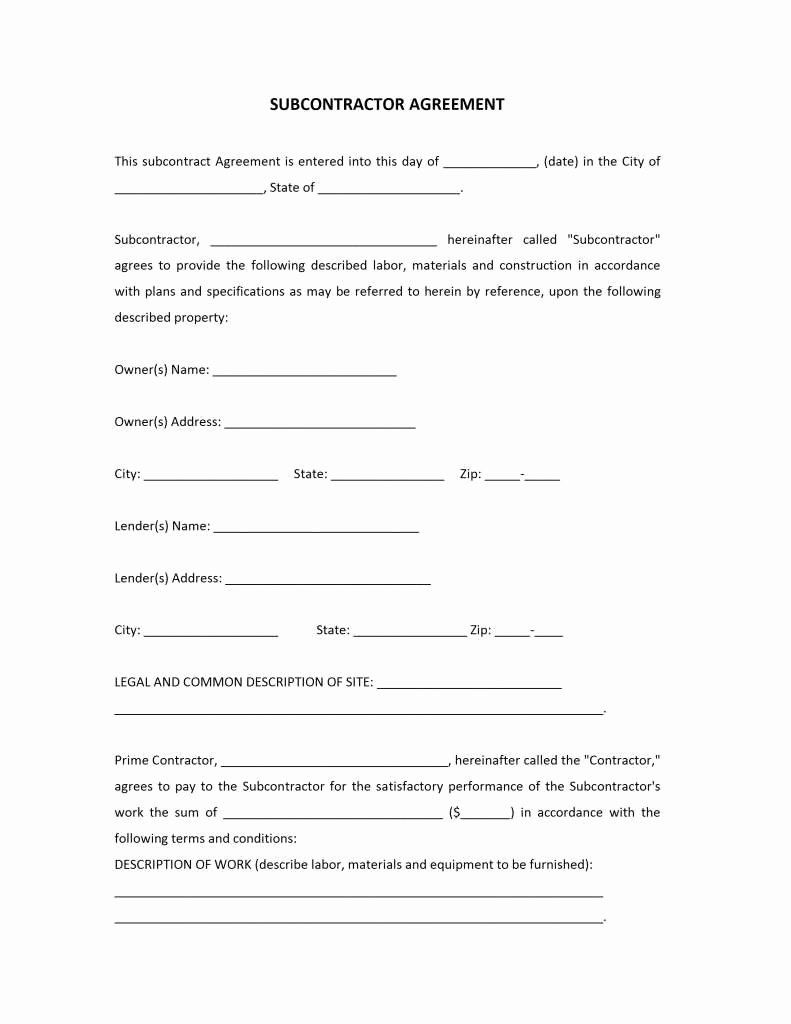 Pin On Letter Of Agreement Sample Subcontractor non compete agreement template