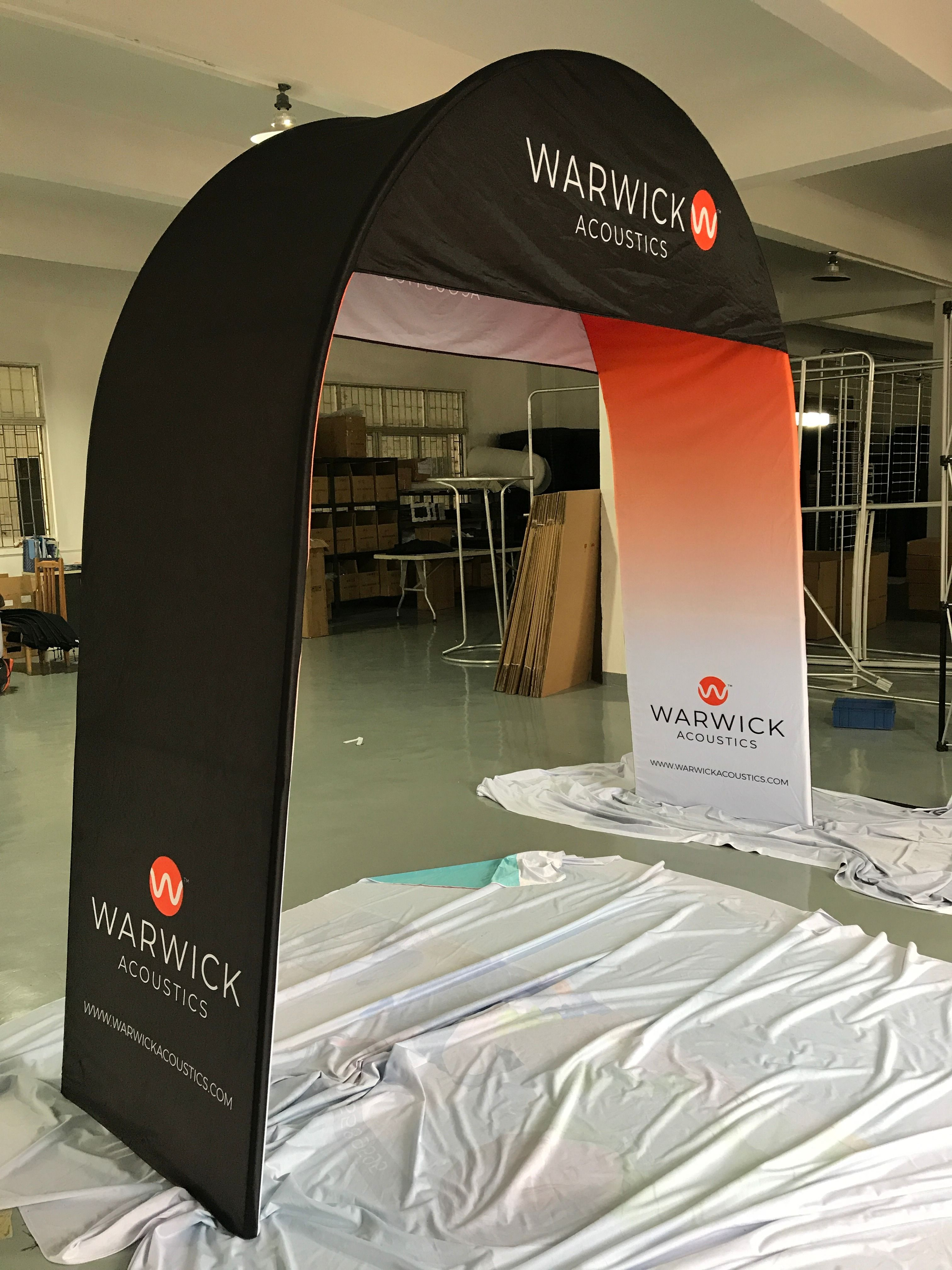 trade show arches tension fabric arch oh my print solutions trade show fabric display arch