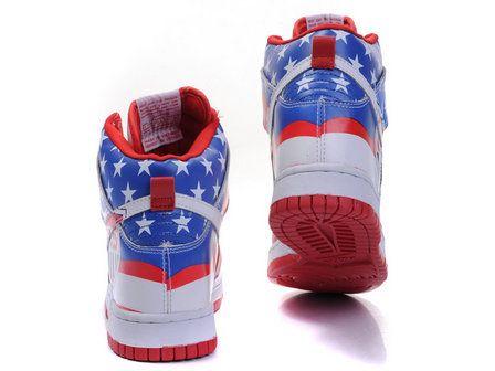 best sneakers e0ed4 58fa7 Nike Dunk High Capt-America x US Soccer Custom Shoes