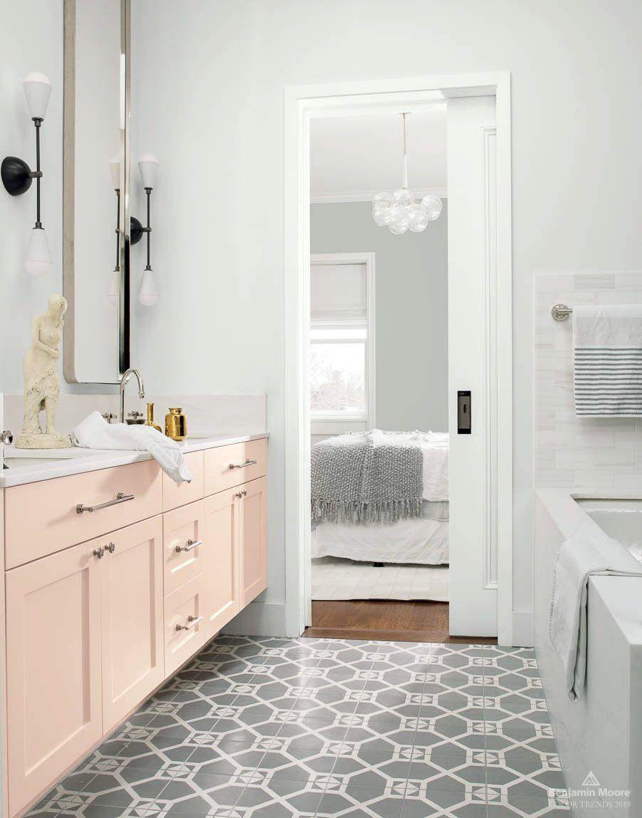 Color Trends Color Of The Year 2019 Metropolitan Af 690 Benjamin Moore Bathroom Trends Trending Bathroom Colors Guest Bathroom Remodel