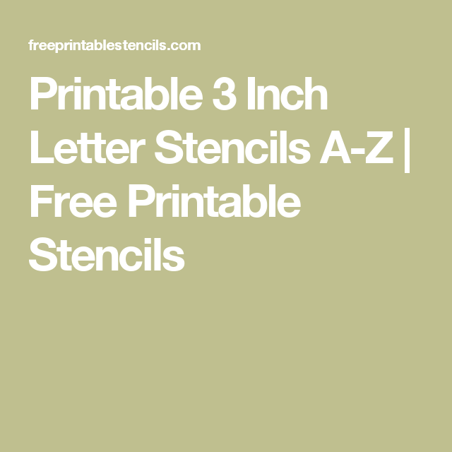 Printable 3 Inch Letter Stencils A Z | Free Printable Stencils