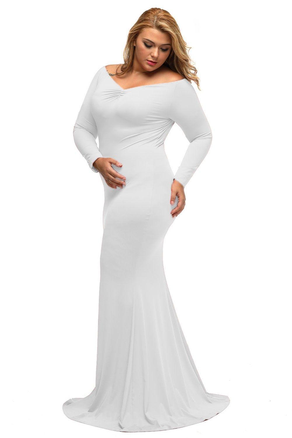 Plus size bling wedding dresses  Plus Sized Maxi dresses with V neck  vi beach elope