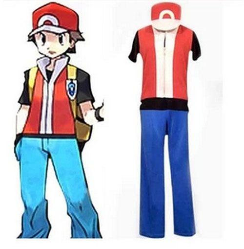Pokemon Trainer Red Cosplay Costume  sc 1 st  Pinterest & Pokemon Trainer Red Cosplay Costume | Halloween ideas | Pinterest ...