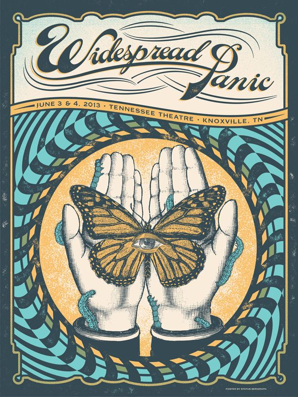 Widespread Panic Poster - Knoxville Tennessee