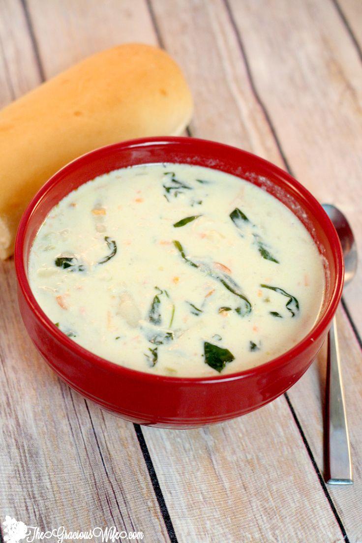 Copycat Olive Garden Chicken Gnocchi Soup Recipe Chicken