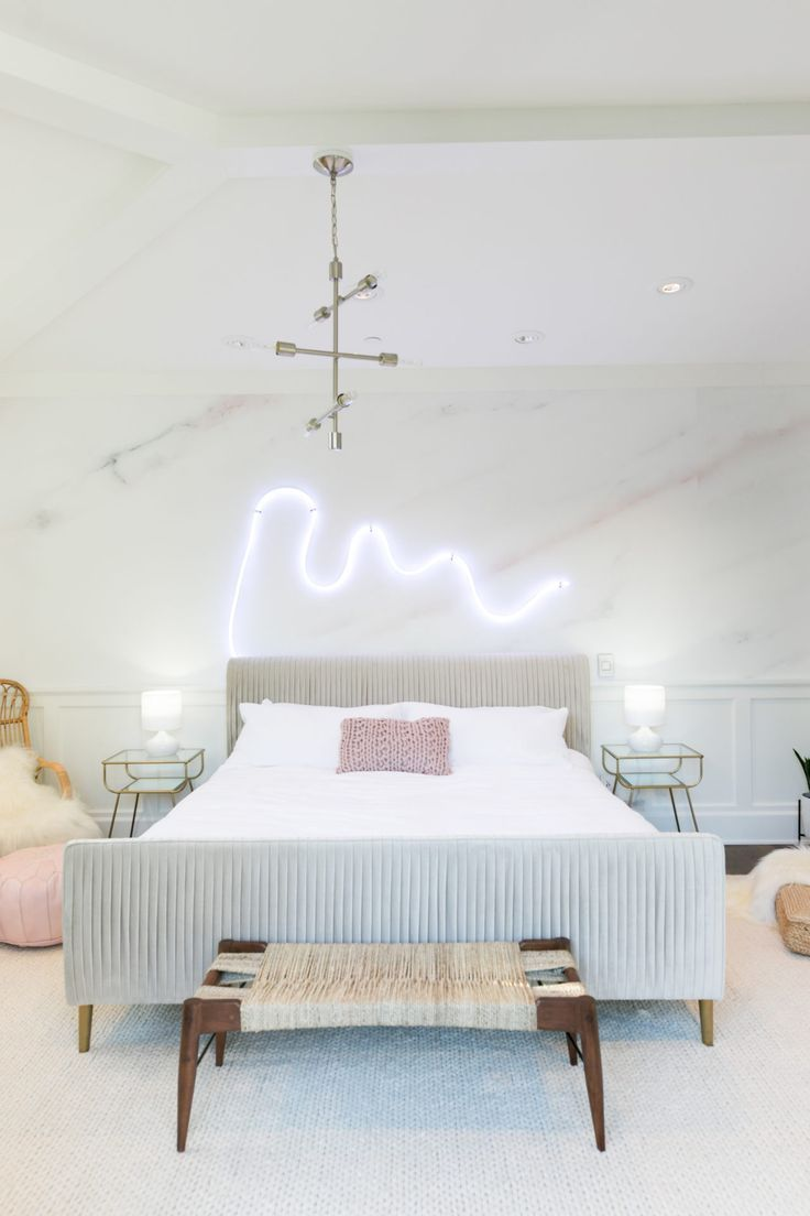 Palm Springs Pastel Bedroom Makeover For Alisha Marie Marbles  # Homes Heaven Muebles