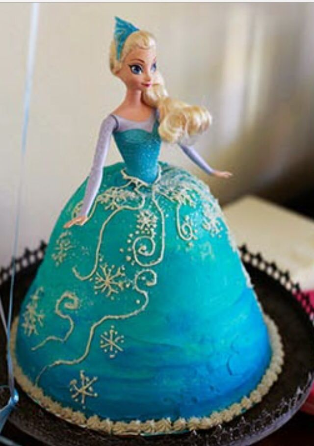 Elsa Barbie Cake Frozen Birthday Party Disney Frozen