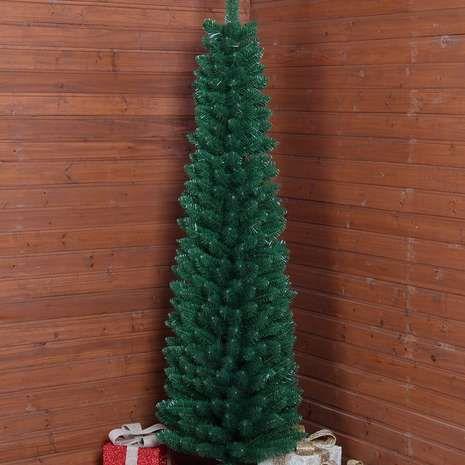 6ft Green Slim Christmas Tree Dunelm Slim Christmas Tree Spruce Christmas Tree Green Christmas Tree