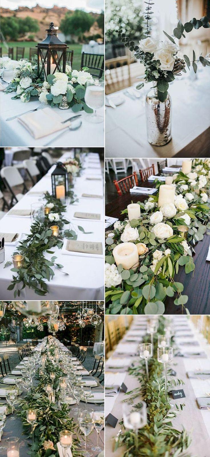 White wedding decor ideas   Best Greenery Wedding Decor Ideas  Weddings  Pinterest