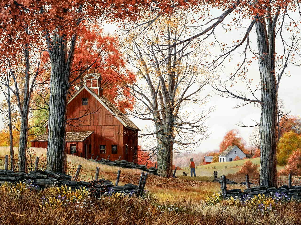 Autumn Walk by Fred Swan | Landscapes to paint | Pinterest ...