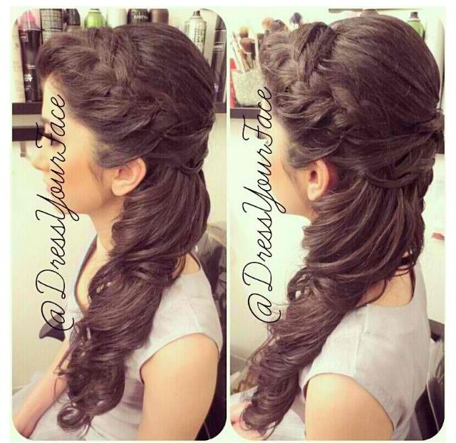 Quinceanera Hairstyles On The Side : Half updos google search hair pinterest updos and