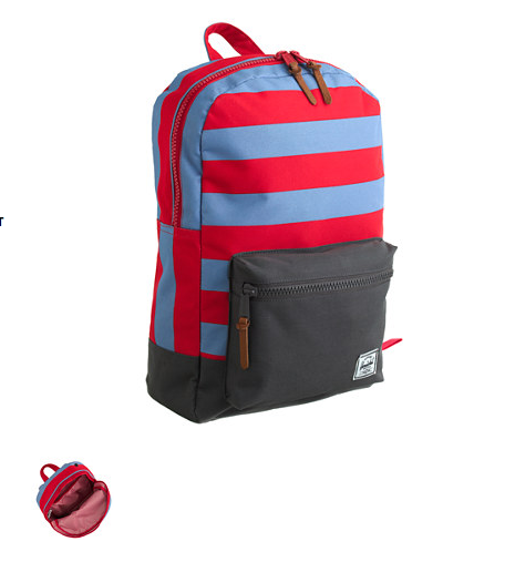 Totally awesome backpacks from Herschel for J Crew!