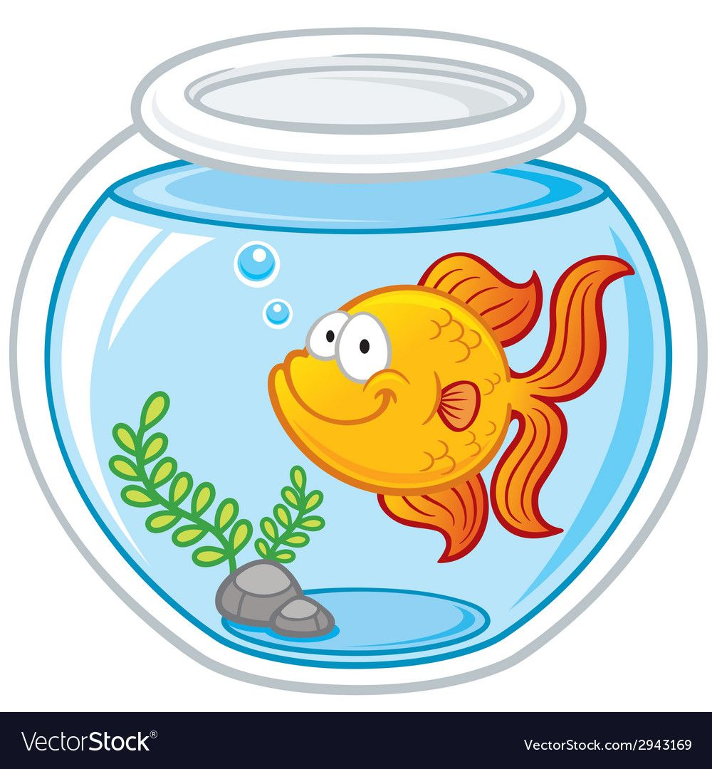 Vector Illustration Of Goldfish In A Bowl Download A Free Preview Or High Quality Adobe Illustrator Ai Eps Goldfish Animal Caricature Fish Bowl Decorations