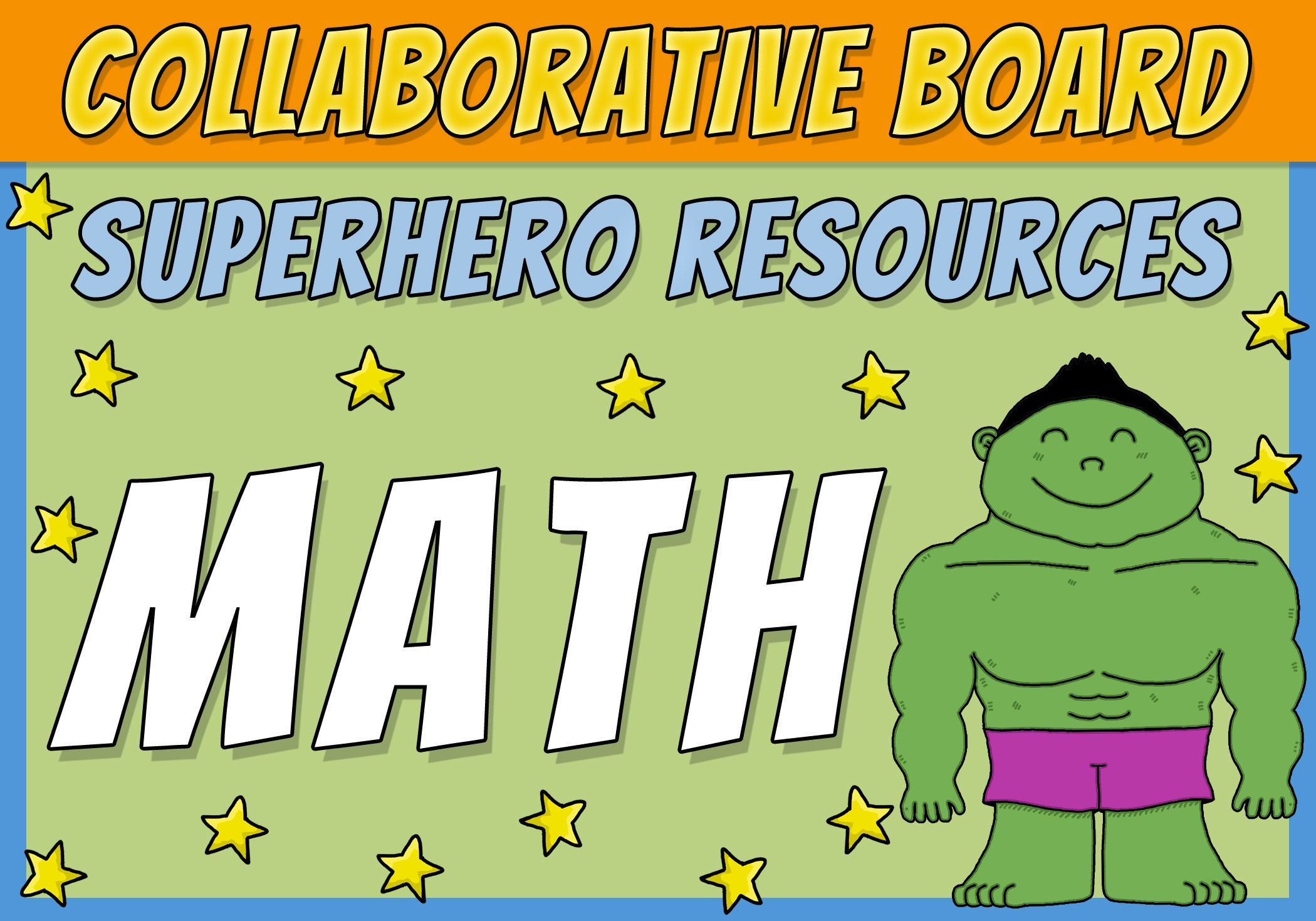 Superhero Math Resources