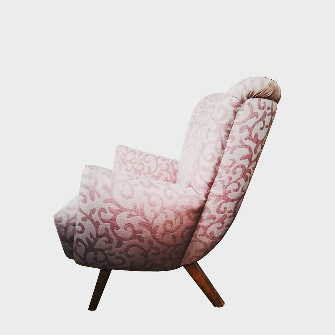 Lounge Sessel Aus Den 50ern Vom Sperrmull Neu Gepolstert Und