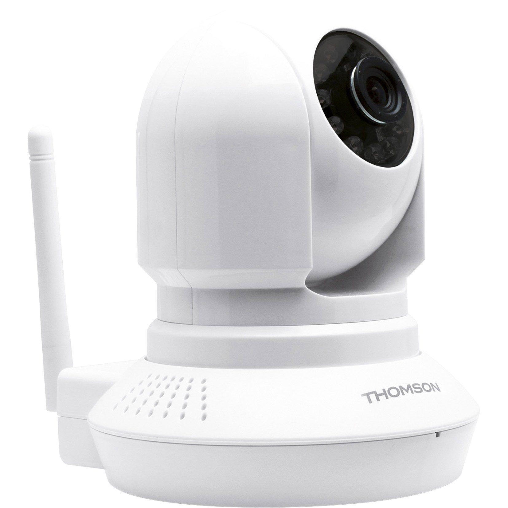 Camera De Surveillance Interieure Motorisee Sans Fil Dsc 523w Blanc Thomson Camera Surveillance Motorise Et Camera