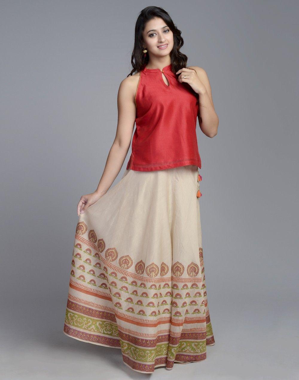 975de5c37d Silk Cotton Printed Skirt Set   ◇ Stylista : Salwars/ churidars n ...