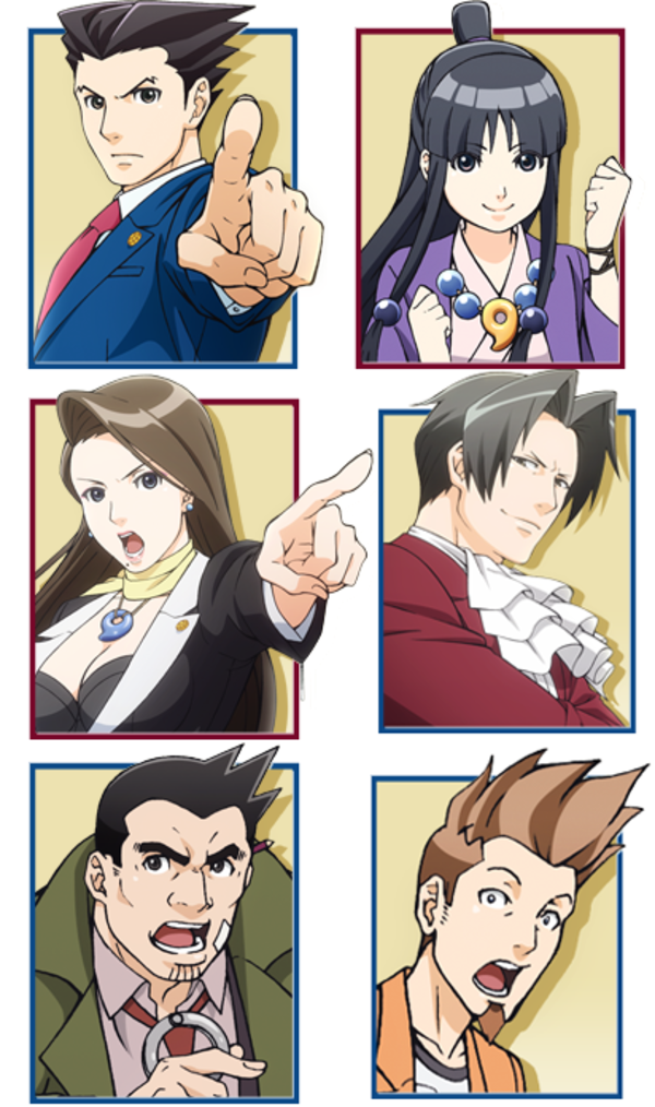 Character Portraits From The Upcoming Ace Attorney Anime Phoenix Wright Ace Attorney Phoenix Wright Character Portraits Ace