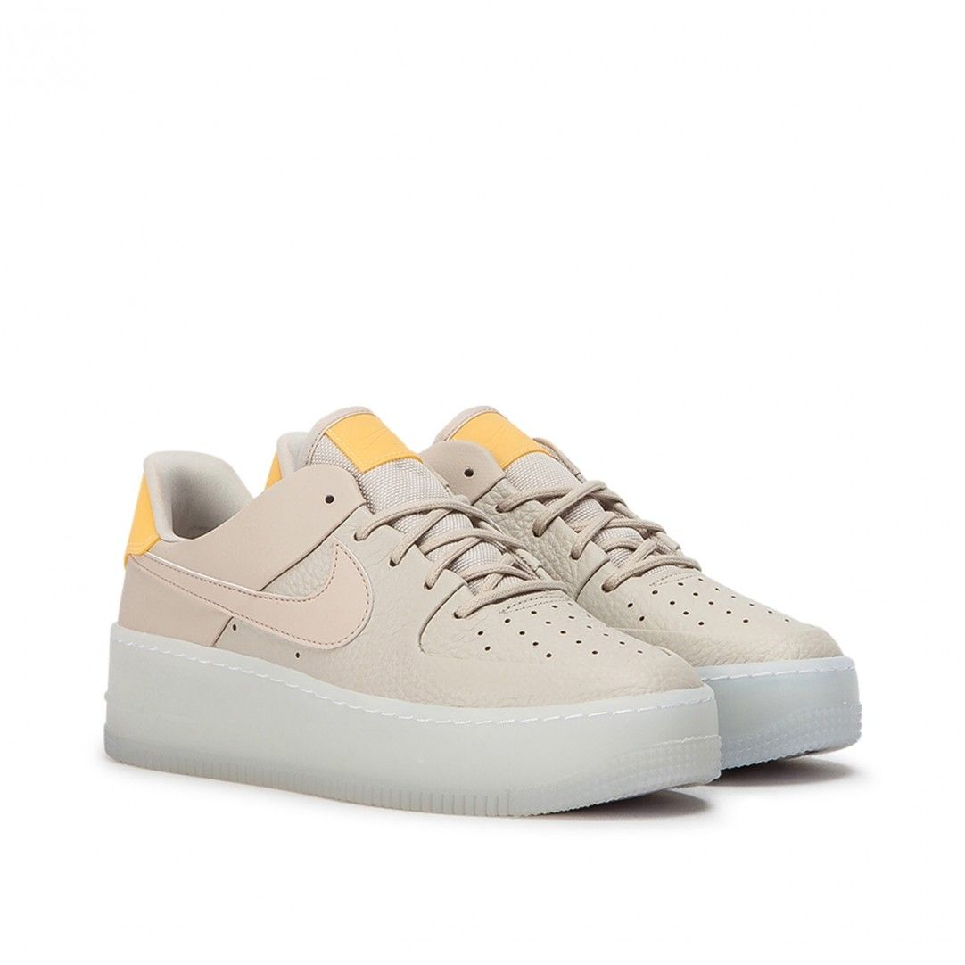 Nike Wmns Air Force 1 Sage Low Lx Beige Yellow Nike Nike Air Force Sneaker Air Force
