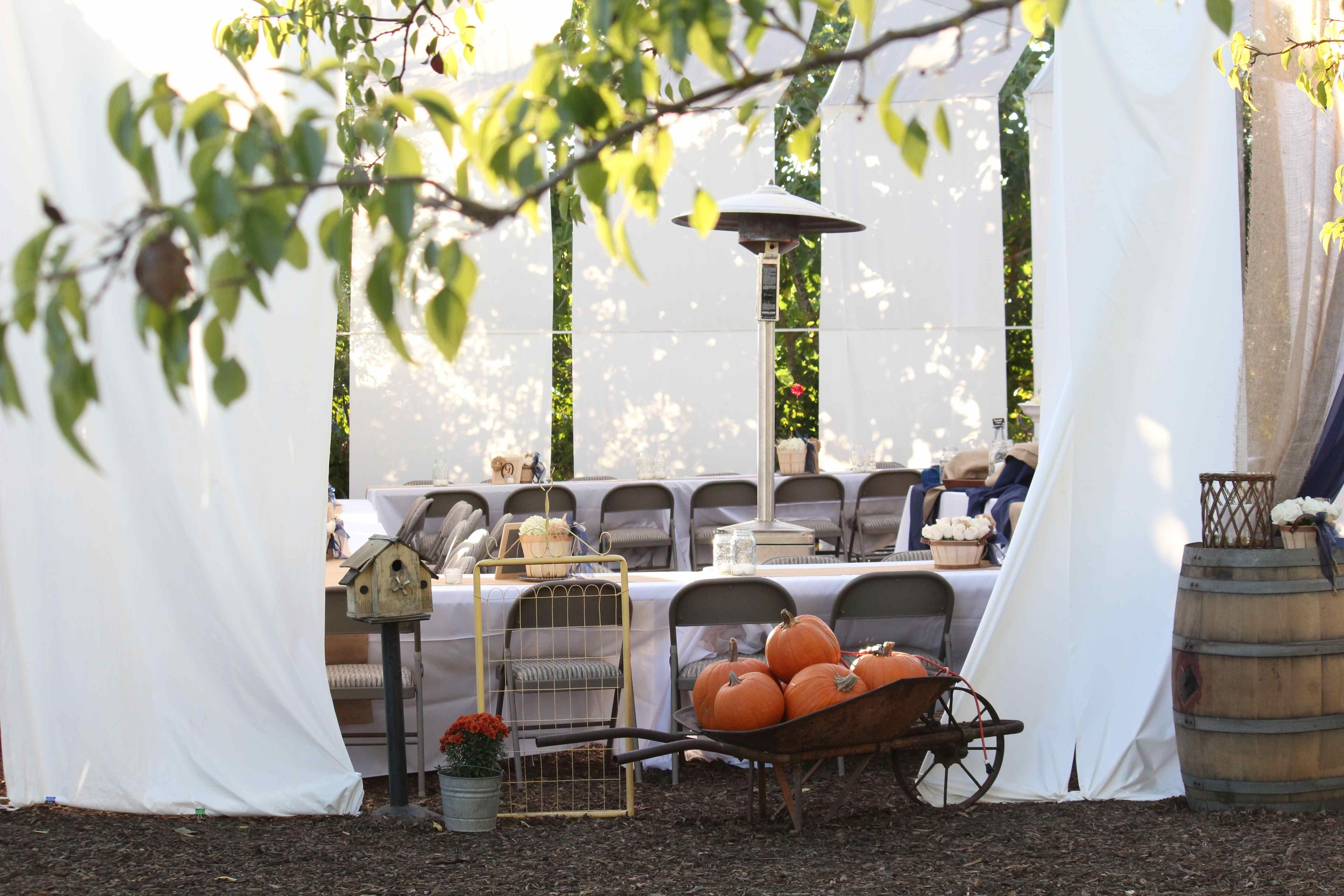 homemade tent to enclose the magic diy backyard wedding