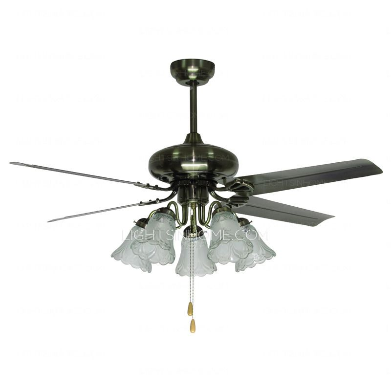 4-Blade And 5-Light Kitchen Ceiling Fans With Lights (With ...