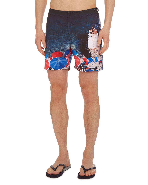 c8870c33f1 ORLEBAR BROWN MEN'S BULLDOG HAWAII PRINTED SWIM TRUNKS. #orlebarbrown #cloth