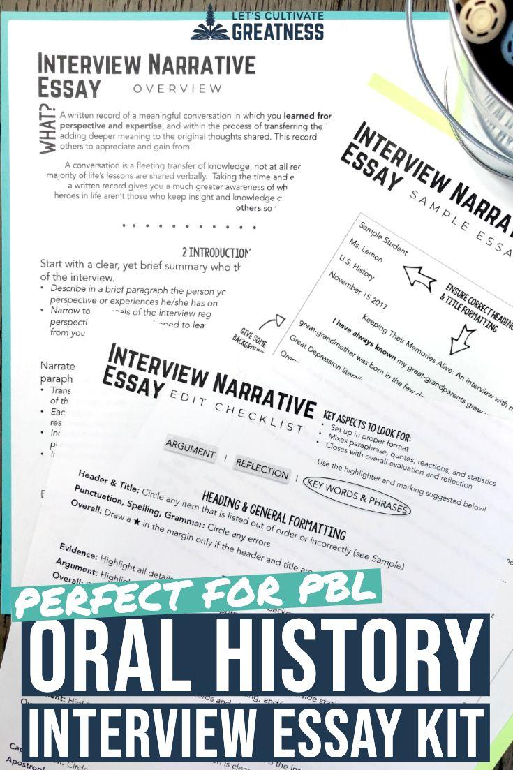 Oral History Essay ⋆ Education Essay Examples ⋆ EssayEmpire