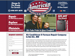 Hvac Website Design Portfolio Website Design Website Design