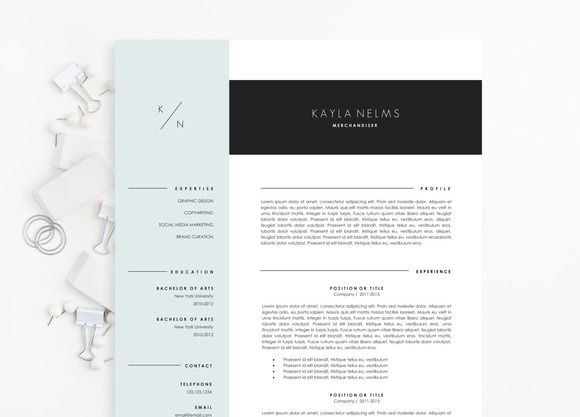 Modern Resume Template For Ms Word By Lecvshoppe On Creative