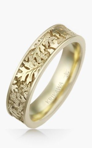Oak Leaf Wedding Band Ring Pinterest Fashion Jewellery And Weddings