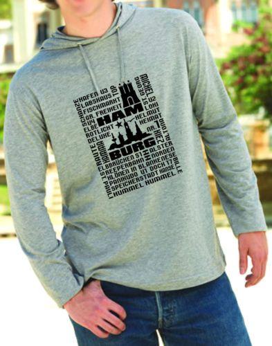 HAMBURG ST. PAULI ALTONA USW. T-SHIRT HOODY LONGSLEEVE AUS LIEBE ZUR HAFENSTADT!