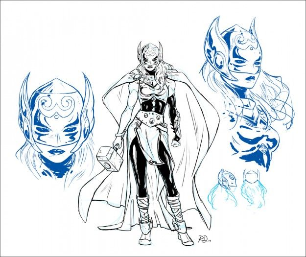New Thor and Thor Odinson Concepts are great :)