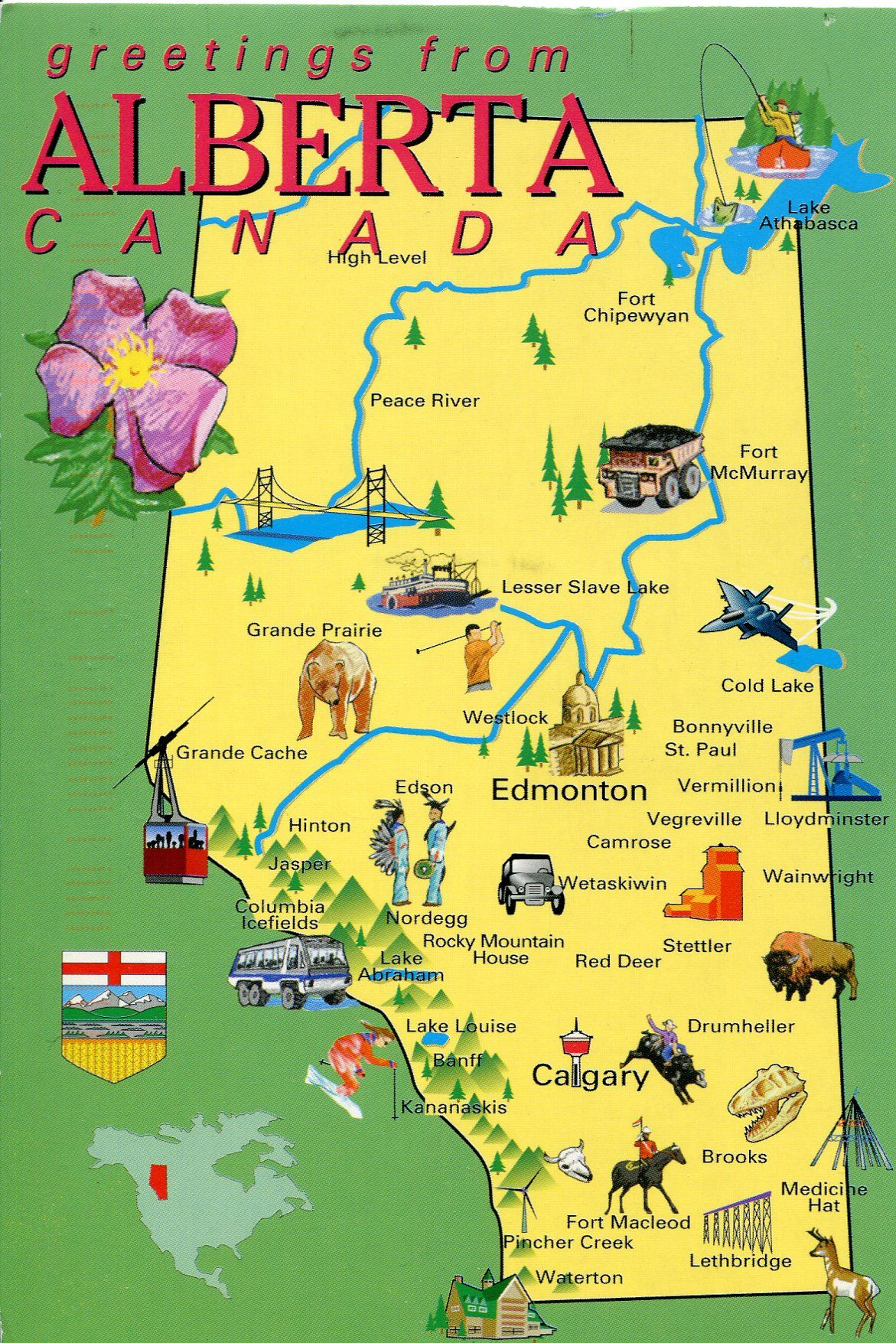 alberta, canada - map. family owns land in this sector of canada