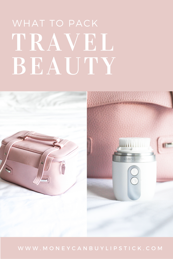 Travel Beauty Must-Haves #beautyessentials Travel Beauty | Travel Beauty Essentials | Makeup and beauty perfect for travel on Money Can Buy Lipstick #beautyessentials