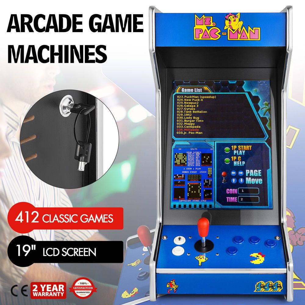 Classic Table Arcade Games Vertical Tabletop Bartop Donkey Kong Arcade Machine With 412