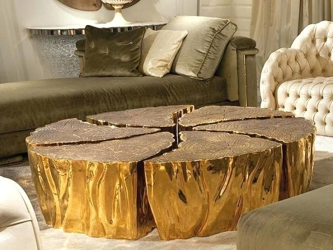 extra large round wood coffee table