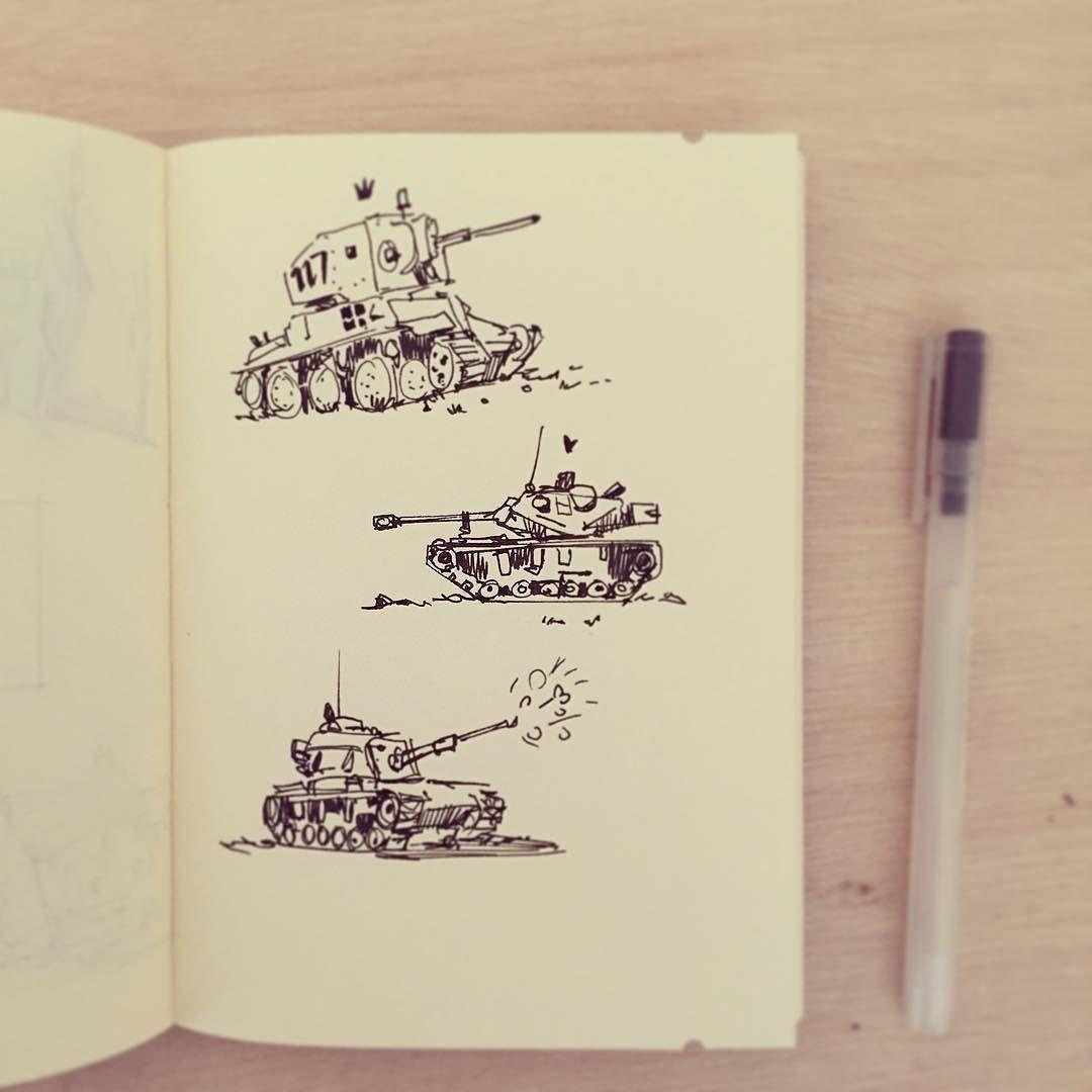 regram @spudonkey Speedy Tanks #sketch #drawing