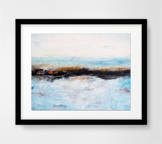Abstract Landscape Print Digital Download Blue Printable Wall Decor