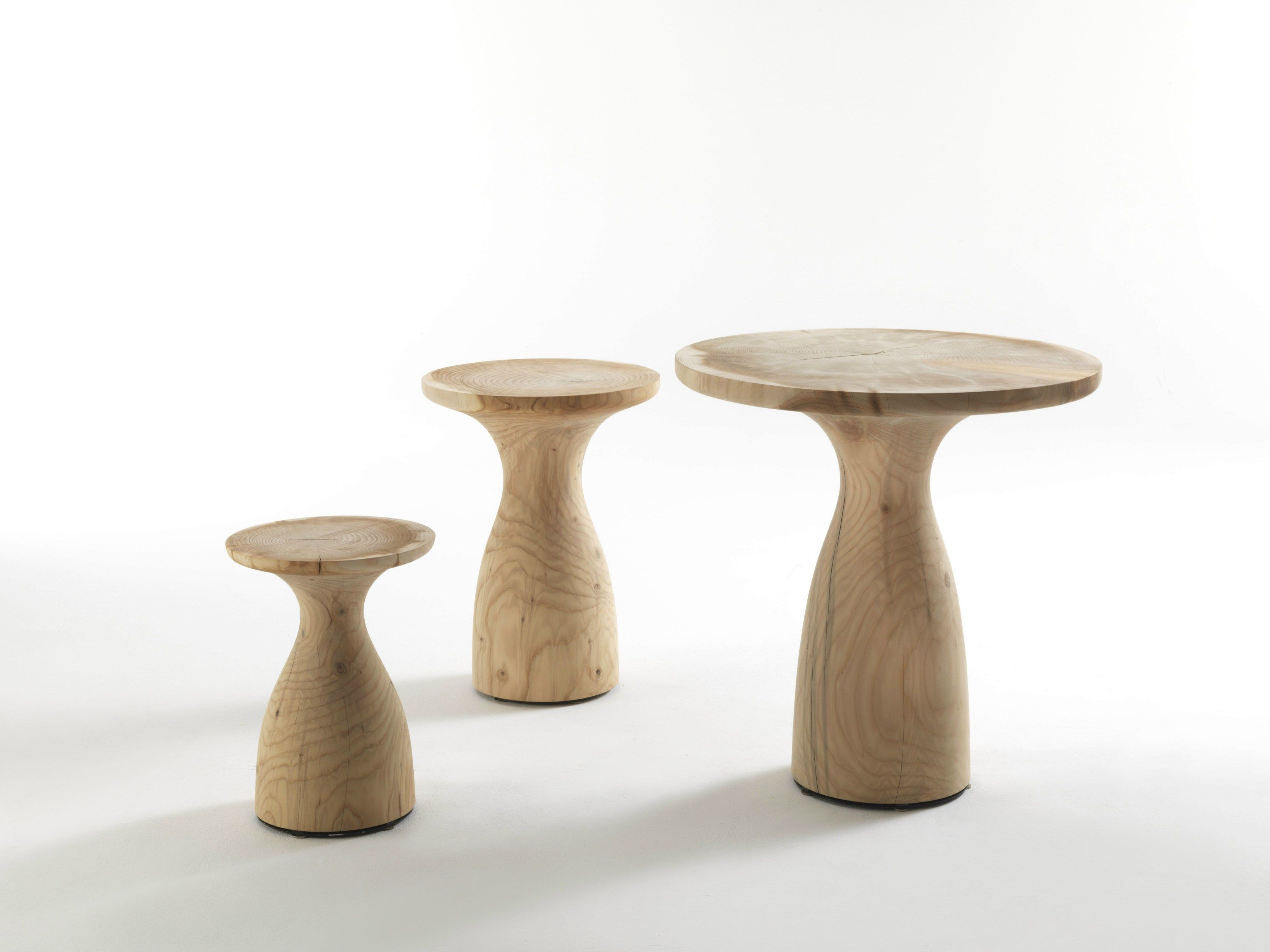 Low round solid wood coffee table BIRILLO | Coffee table - Riva 1920 ...