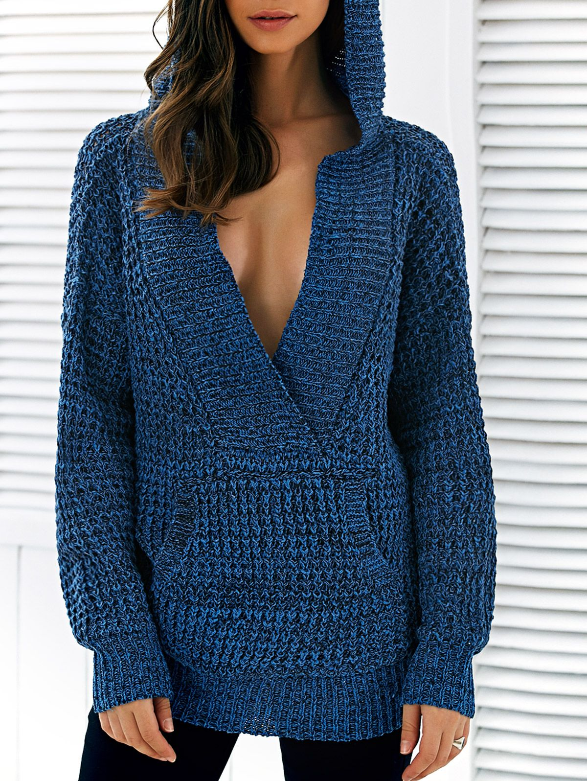 Pullover Hooded Heathered Sweater | Pullover, Crochet and Crochet ...