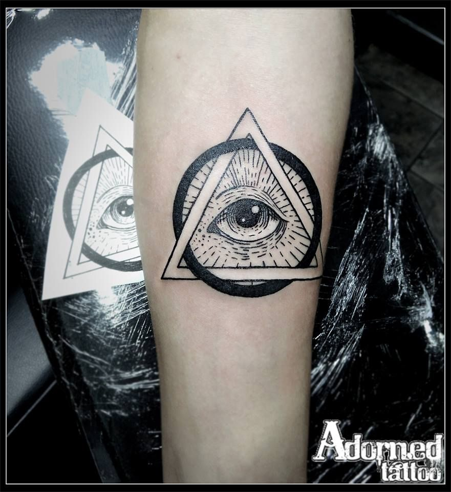 All Seeing Eye Tattoo: The All Seeing Eye! #line Work #blackwork #allseeingeye