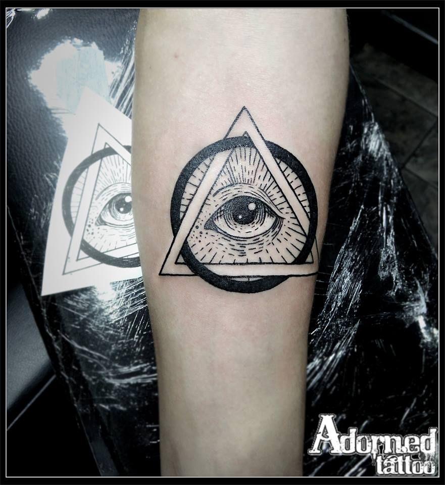The all seeing eye! line work blackwork allseeingeye