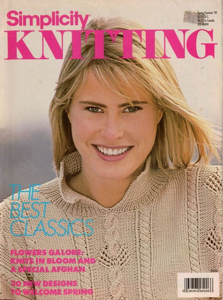 Simplicity Knitting Spring Summer 1989 30 Patterns Sweater Cardigan
