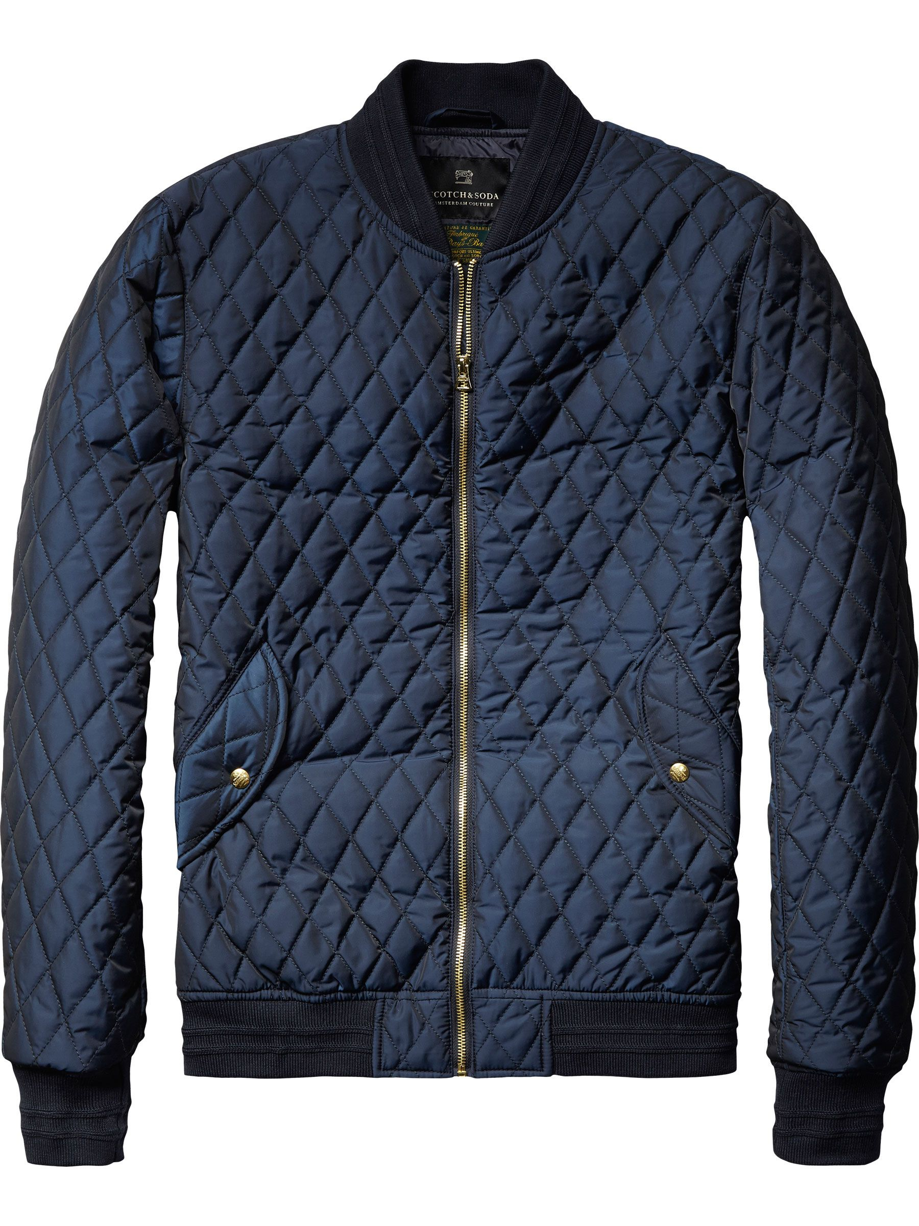Quilted Nylon Bomber Jacket Trims And Labelling Pinterest Man