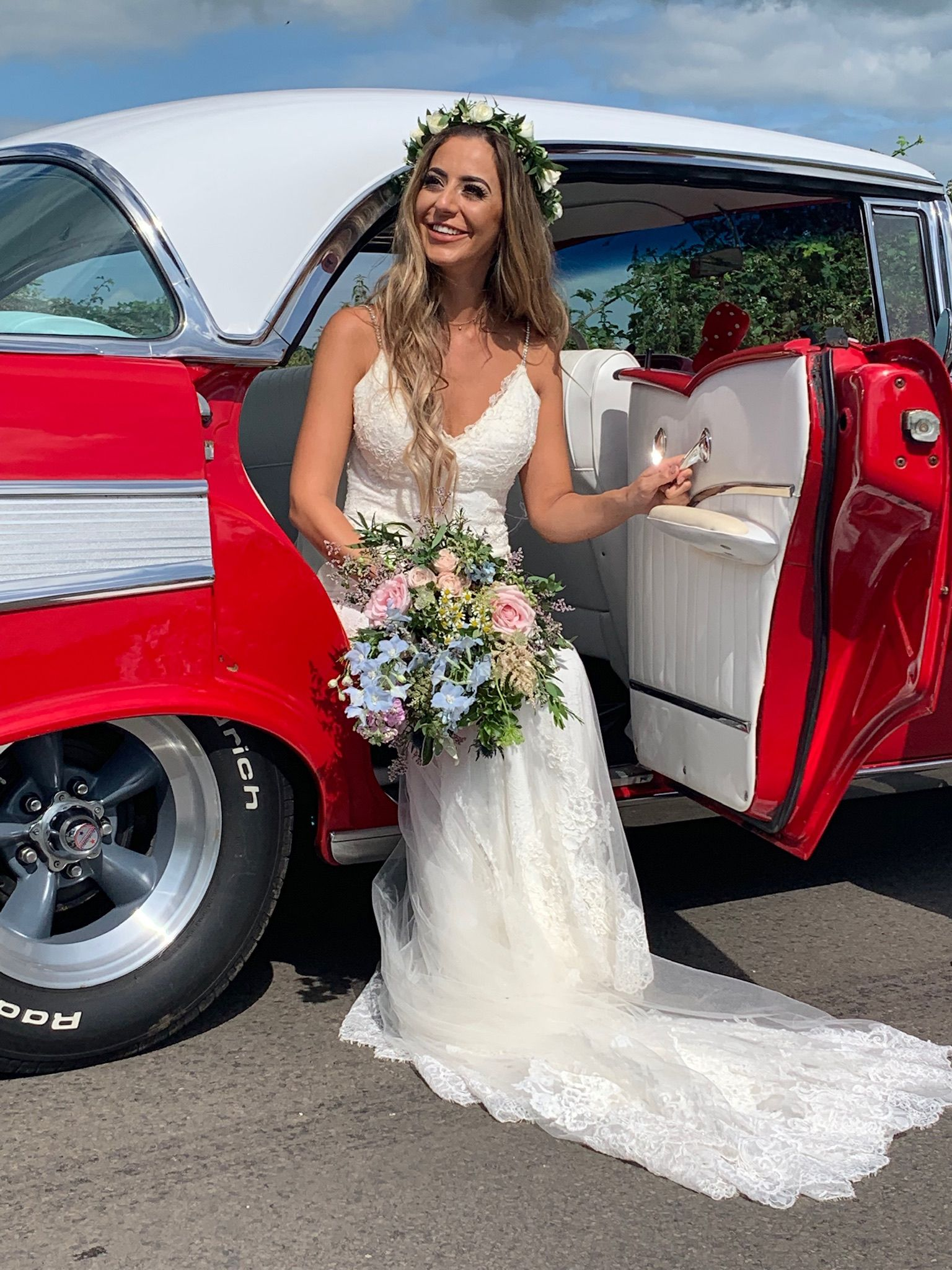 Star Car Hire's 1957 Chevy Bel Air Wedding Car Wedding