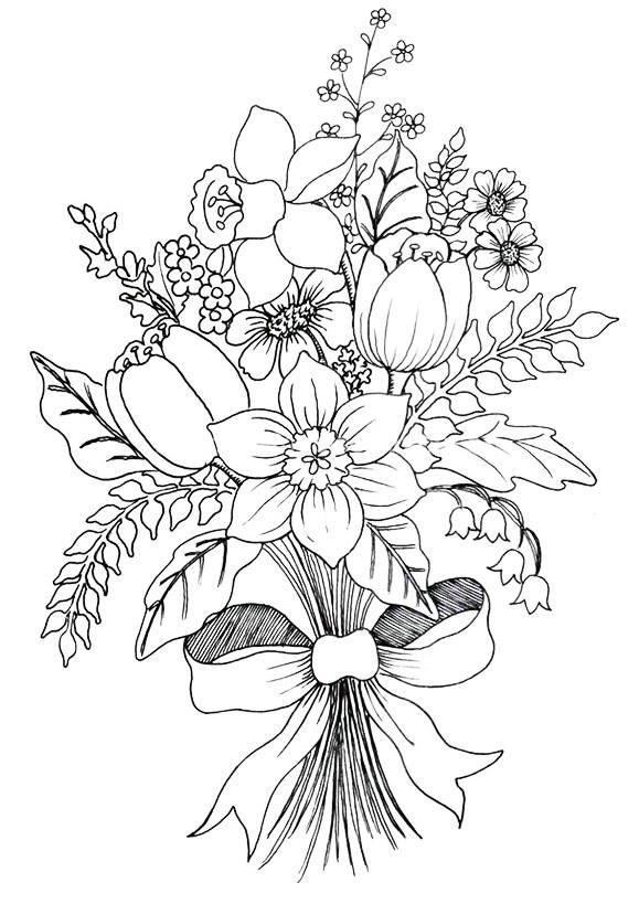 Цветочные композиции картинки карандашом