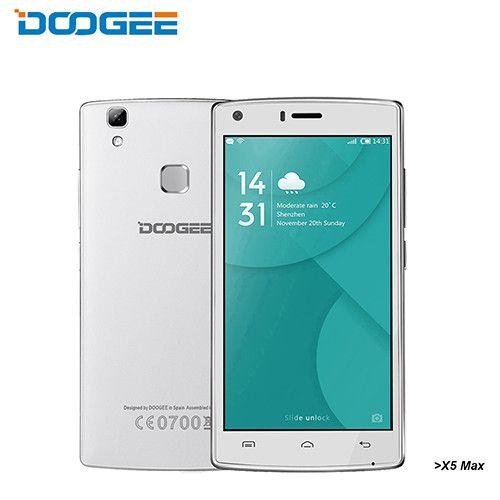 DOOGEE X5 Max mobile phones fingerprint 4000mAH 5 0InchHD