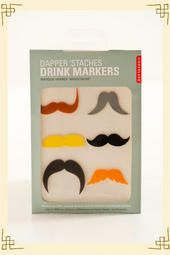 Dapper 'Staches Drink Markers